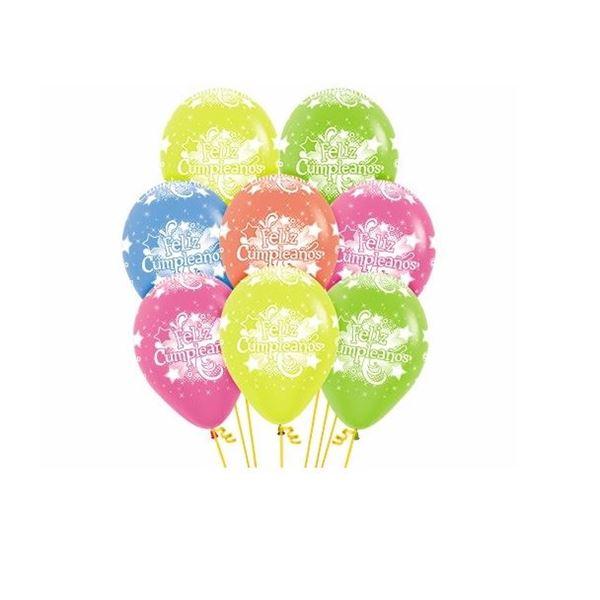 Imagen de Globos Feliz Cumpleaños tonos neón (12)