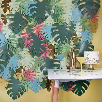 Imagen de Fondo hojas tropicales