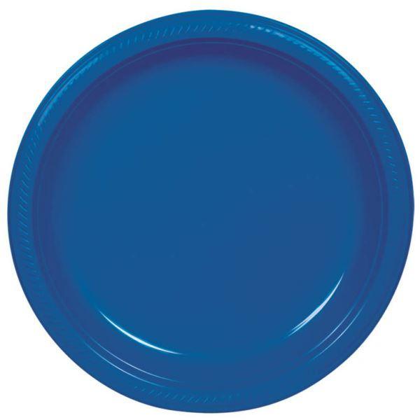 Picture of Platos azul marino plástico pequeños (10)