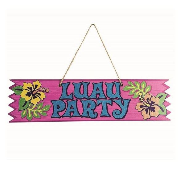 Imagen de Cartel Luau Party madera