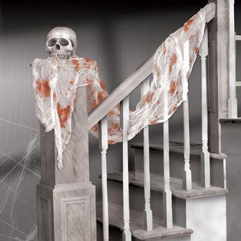 Imagen de Tela Gasa blanca con Sangre
