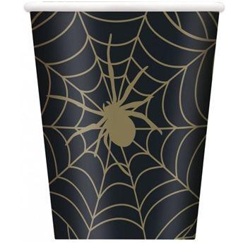 Imagen de Vasos Telarañas Negro Halloween (8)