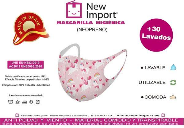 Picture of Mascarilla infantil Unicornio homologada