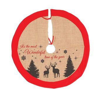 Imagens de Cubre Pie de Árbol Navidad Rústico 85cm