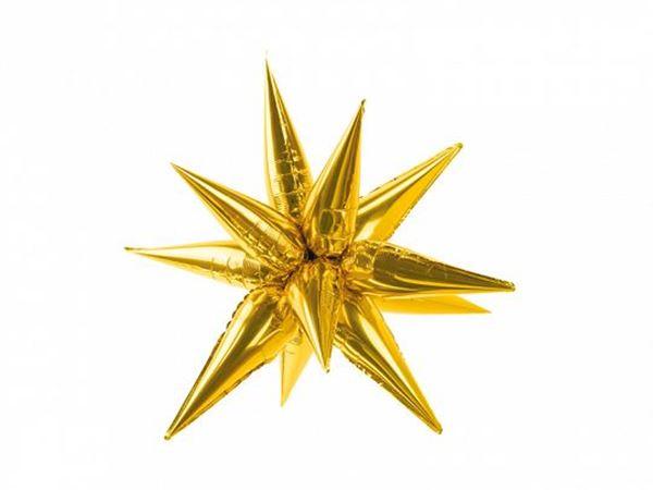 Picture of Globo estrella dorada 3D (70cm)