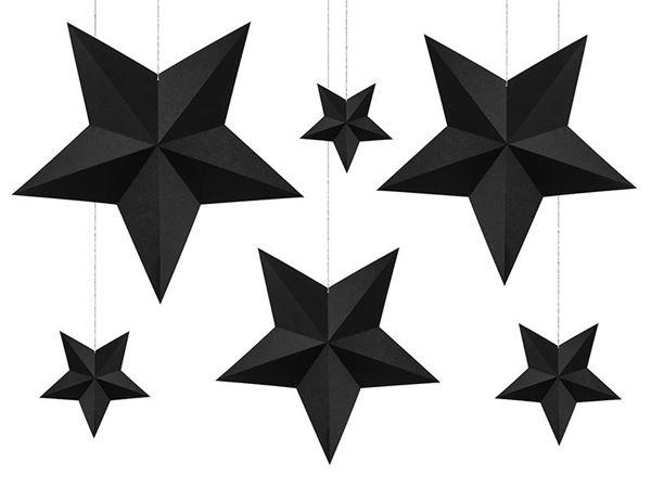 Imagens de Decorados estrellas negras colgantes (6)