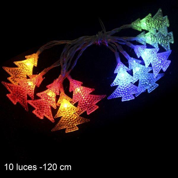 Imagen de 10 Luces led flash Pinos Multicolor 120cm