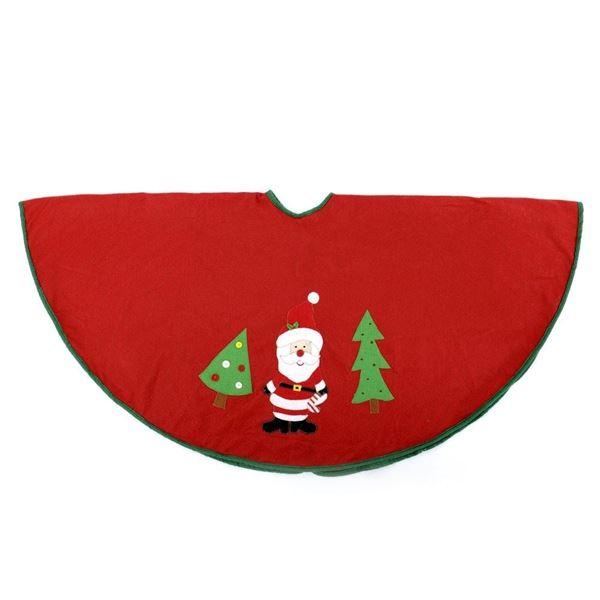 Picture of Cubre pie de árbol papá Noel tejido rojo 120cm