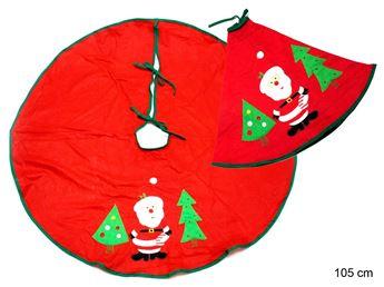 Imagens de Cubre pie de árbol papá Noel tejido rojo 105 cm