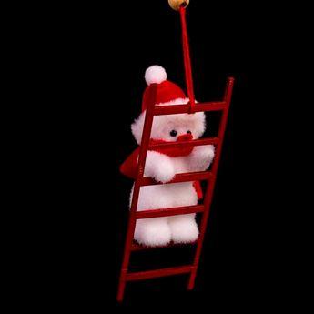 Imagens de Adorno árbol muñeco de nieve escalera
