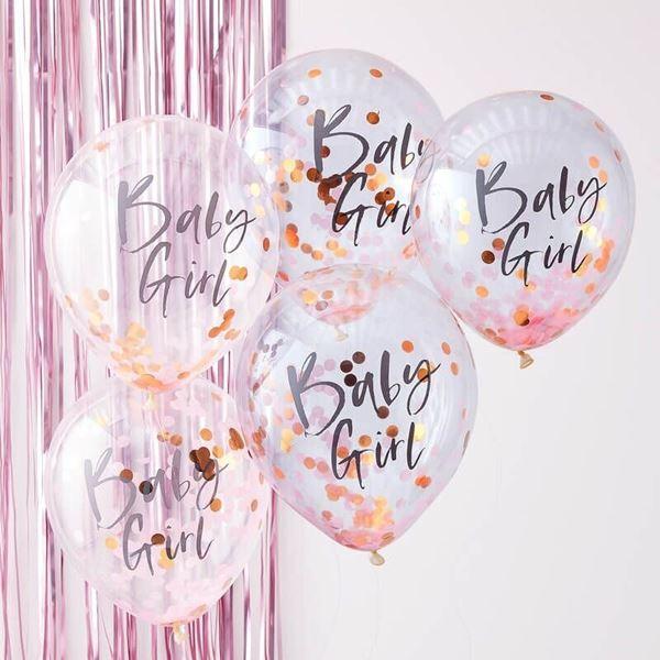 Imagens de Globos confeti baby Girl bebé rosa (5)