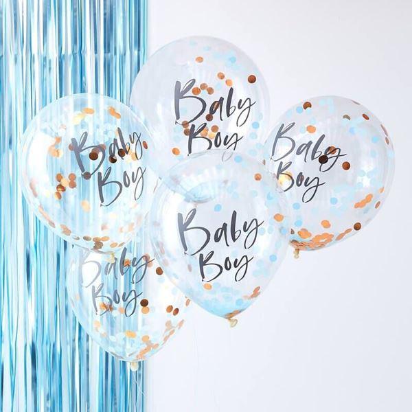 Imagens de Globos confeti baby Boy bebé azul (5)