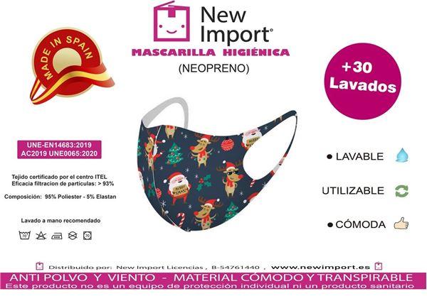 Picture of Mascarilla infantil Navideña homologada