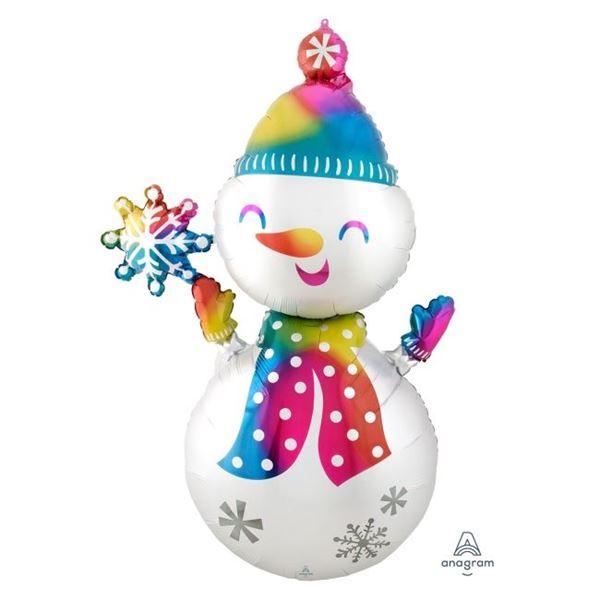 Picture of Globo Muñeco de nieve colores 139cm