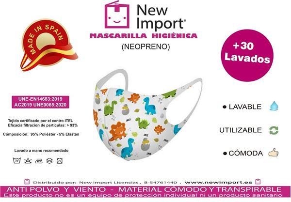 Picture of Mascarilla infantil Dinos homologada