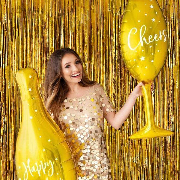 Imagens de Globo botella dorada Happy New Year