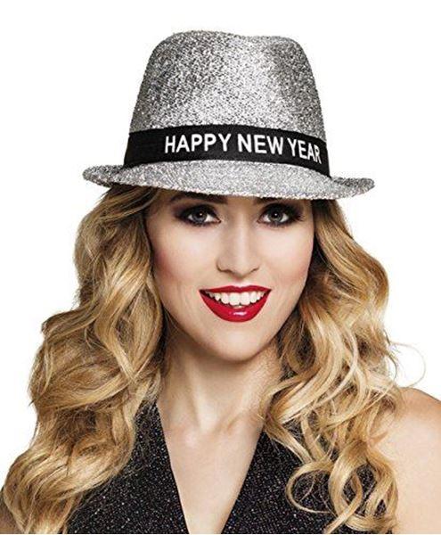 Imagens de Sombrero Happy New Year plateado