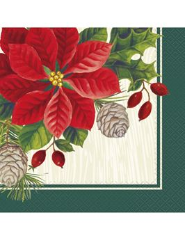 Imagen de Servilletas Poinsettia Navidad (16)