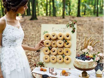 Imagens de Donut Wall, madera natural, 45x55cm