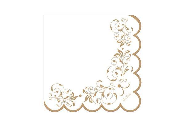 Imagen de Servilletas doradas imperio decorado (16) 33x33 cm