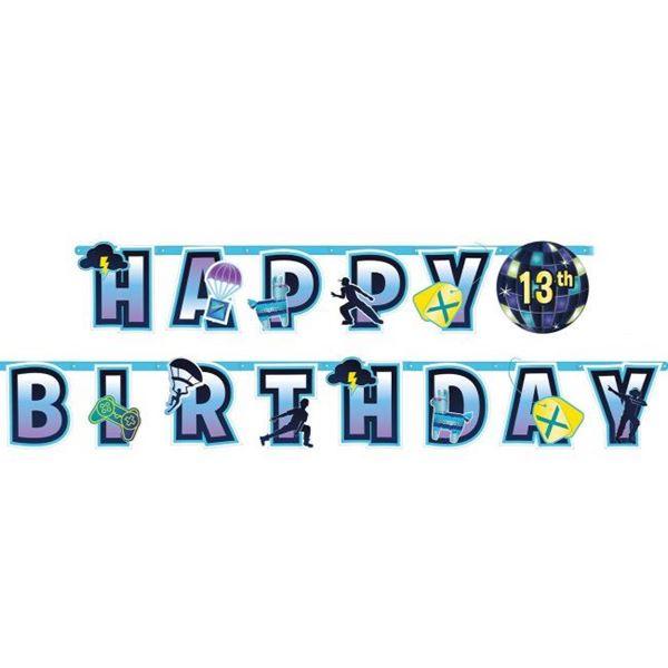 Imagens de Guirnalda Battle Royal Fortnite Feliz cumpleaños personalizable
