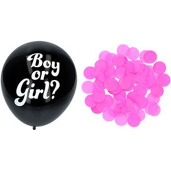 Picture of Globos confeti revelación sexo bebé rosa niña 41cm (3)