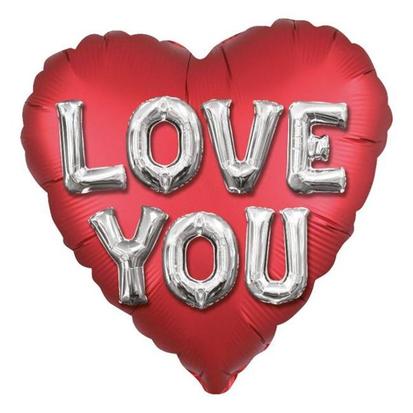 Picture of Globo Corazón Rojo Satín Love