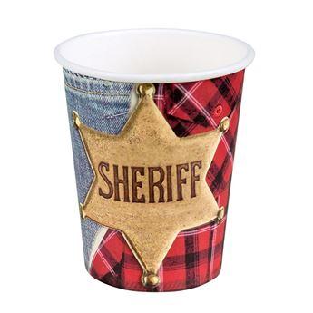 Imagen de Vasos Oeste Sheriff (6)