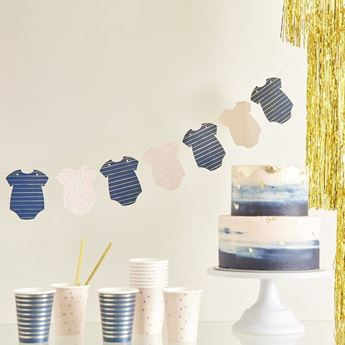 Imagen de Guirnalda Gender Reveal Pink and Navy 2,5m