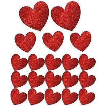 Imagen de Troquelados corazones brillantes (20)