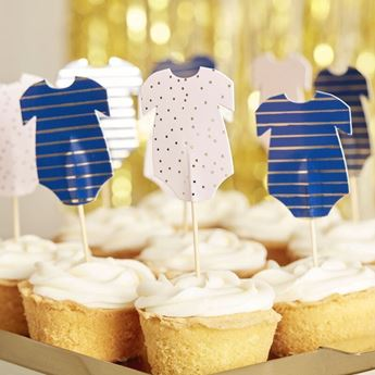 Imagen de Topper cupcake Gender Reveal Pink and Navy (12)