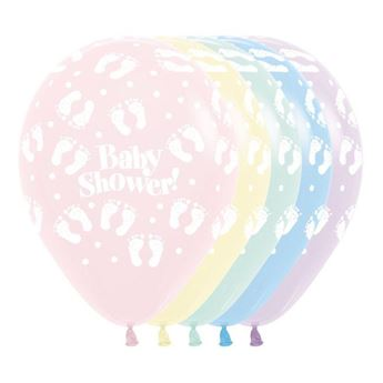 Imagen de Globos huellas bebé colores pastel (12)