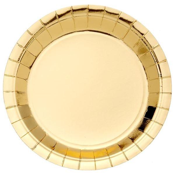 Picture of Platos de cartón Dorado Metal (8)