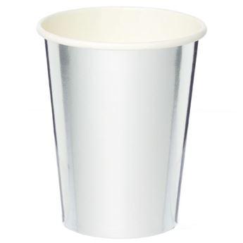 Imagen de Vasos de cartón Plateado Metal (8)