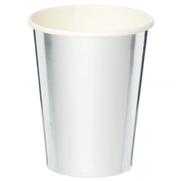 Picture of Vasos de cartón Plateado Metal (8)