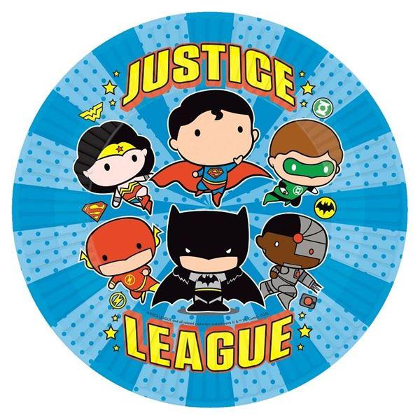 Imagens de Platos Liga de la Justicia Cómic (8)