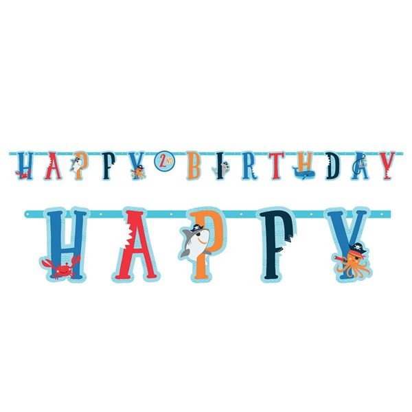Picture of Banner Happy Birthday Pirata infantil personalizable (3m)