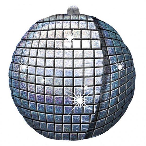 Imagens de Globo Bola Disco plateada holográfica