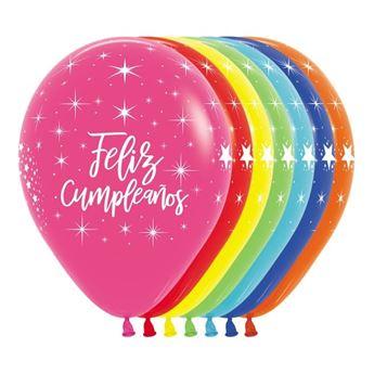 Imagen de Globos Feliz Cumpleaños colores Fashion (12)