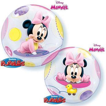 Picture of Globo Minnie bebé Bubble burbuja 56 cm
