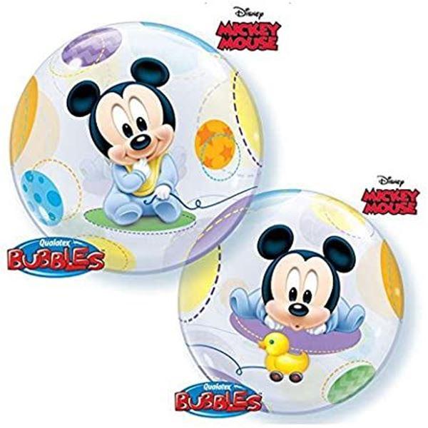 Imagen de Globo Mickey Mouse bebé Bubble burbuja 56 cm