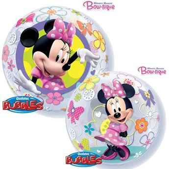Picture of Globo Minnie flores Bubble burbuja 56 cm
