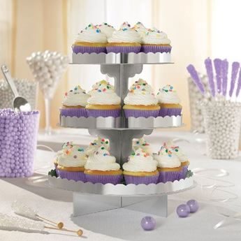 Imagen de Stand para cupcakes color plateado