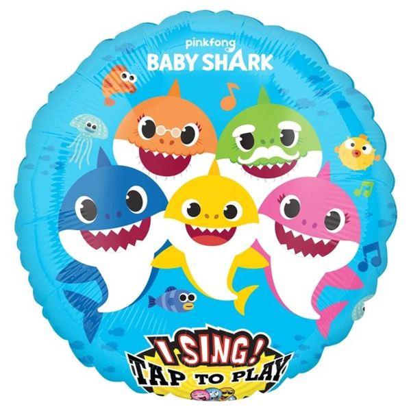 Imagen de Globo Baby Shark musical 71cm