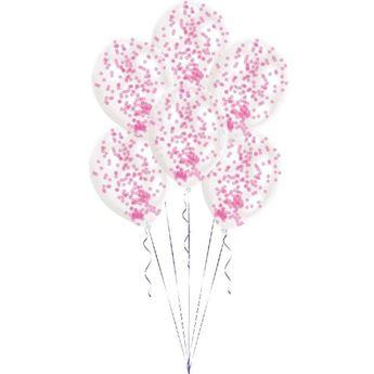 Imagen de Globos con confeti rosa (6)