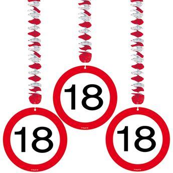 Picture of Decorados espirales 18 años señal de tráfico (3)