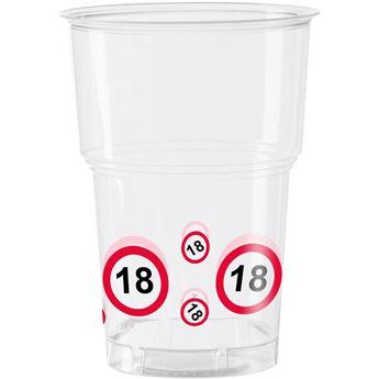 Imagen de Vasos 18 años señal de tráfico (10)