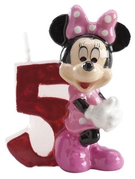 Imagen de Vela 5 Minnie Mouse Disney