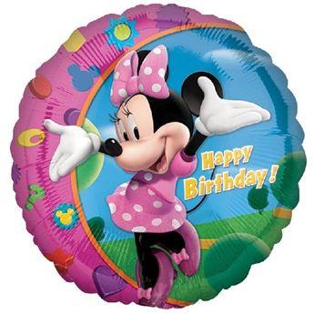 Imagen de Globo Minnie Mouse feliz cumpleaños