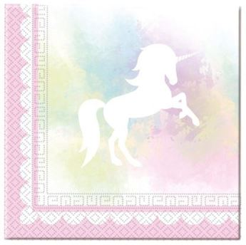 Imagen de Servilletas Unicornio pastel (20)